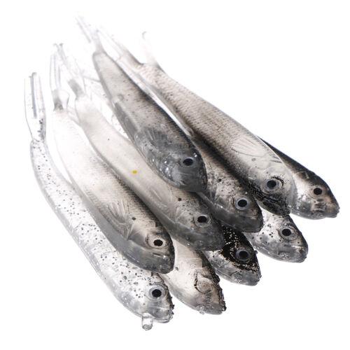 10Pcs 80Mm Soft Fishing Lure Tiddler Swimbait Artificial Bait Tackle Minnow /_T