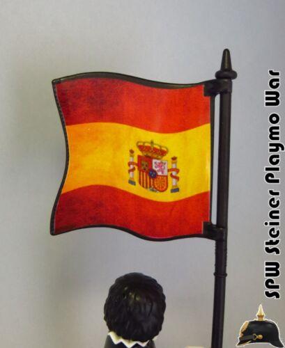BANDERA DE ESPAÑA ACTUAL SPANISH ACTUAL FLAG PLAYMOBIL FIGURA NO INCLUIDA
