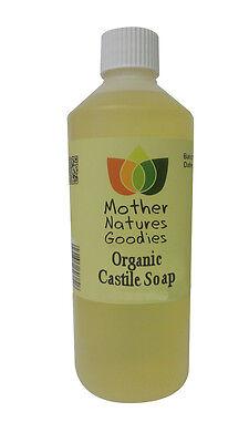 ORGANIC CASTILE SOAP Fragrance Free -  100% Pure & Certified SLS Free