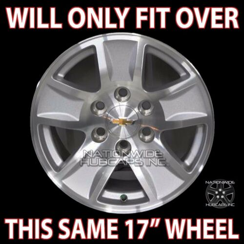 "4 Gloss Black 14-18 Silverado Tahoe 17/"" Wheel Skins Hub Caps Aluminum Rim Covers"