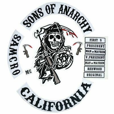 Son Of Anarchy Embroidered sew//iron on Patch biker racing rock metal skull badge