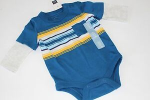 Baby Gap Boys Top Shirt Bodysuit Blue Porcupine Size 6-12 Months NWT NEW
