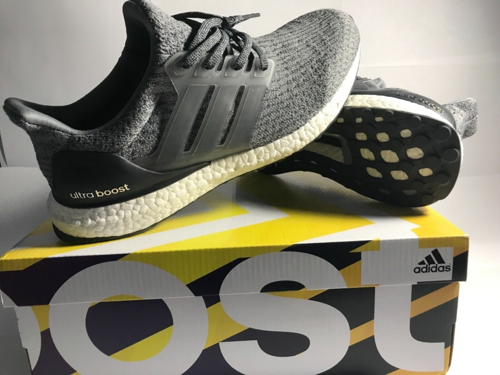 adidas ultra great boost grey size 9 great ultra condition b6ba4e