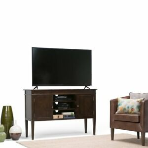Simpli Home Carlton Collection Tall Tv Media Stand 54 By 36 Inch