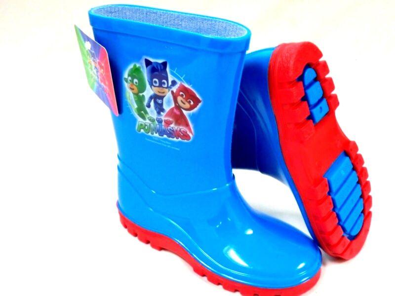 *sale* Boys New Pj Masks Wellies Blue Welly Wellington Rain Boots Size 5 - 10 Schmerzen Haben