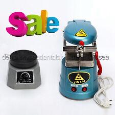 Dental Lab Vacuum Forming Molding Machine w/ Round Vibrator Vibrating Oscillator