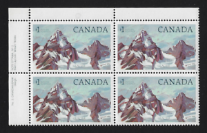 Canada-Stamps-Corner-Block-of-4-UL-1985-Glacier-National-Park-934iii-MNH