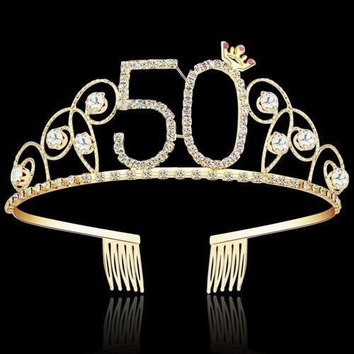Rhinestone Princess Crown Crystal Birthday Tiaras Happy Birthday Crowns Headband