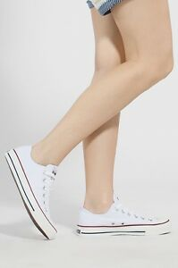 4d81ee60e1429d Converse Womens Shoes White All Star Chuck Taylor LOW Top OX Optical ...