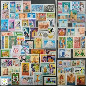 Worldwide Stamp Lots: Tunisia MNH - 80 Different Stamps in Full Sets & Singles