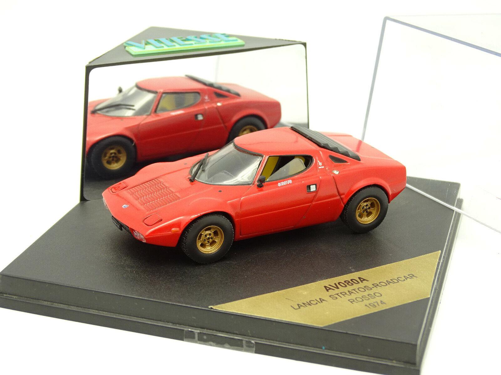 Centro comercial profesional integrado en línea. Vitesse 1 1 1 43 - Lancia Stratos Rojo 1974  diseñador en linea