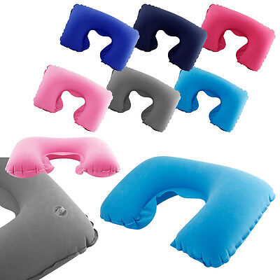 New Inflatable Travel Pillow Air Cushion Neck Rest U-Shaped Compact Plane Flight