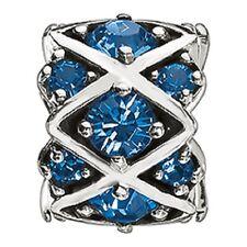 Chamilia Blue Swarovski Shimmering Stones Bead Charm JB-36B  NEW Authentic
