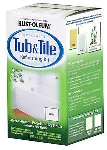 Rust Oleum Tub And Tile Refinishing 2 Part Kit White