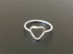 Genuine-925-Sterling-Silver-Open-Love-Heart-Stackable-Ring-Size-5-6-7-8-9
