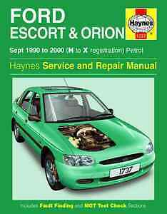 Service & Repair Manuals HAYNES MANUAL 1737 FORD ESCORT ORION ...