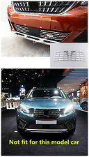 Stainless Steel Front Bottom Grill Gird Cover Trim 10pcs For Peugeot 5008 2017