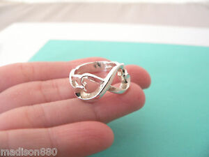 Itm Tiffany Co Silver Picasso Double Loving Heart Ring Band Sz 7 5 Rare Classic  331271095605 Tiffany Rings Loving Heart
