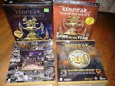 UNREAL GOLD ORIGINAL TOURNAMENT GOTY WINDOWS 95/98 PC BIG BOX GATEFOLD COMP USA