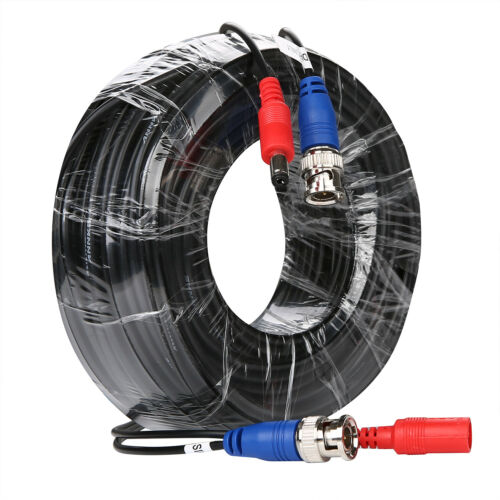 25//50//60//100//150ft Extension Video DC BNC Power Cable for Security Camera System