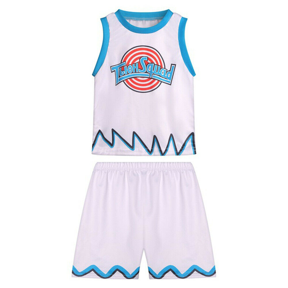 Space Jam 2 Cospaly Costume Kids Basketball Jersey Children T-shirt Shorts Gift