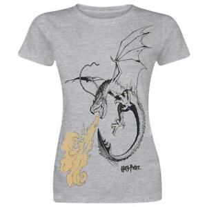 Harry-Potter-Corno-Dragon-T-Shirt-Ufficiale-Donna