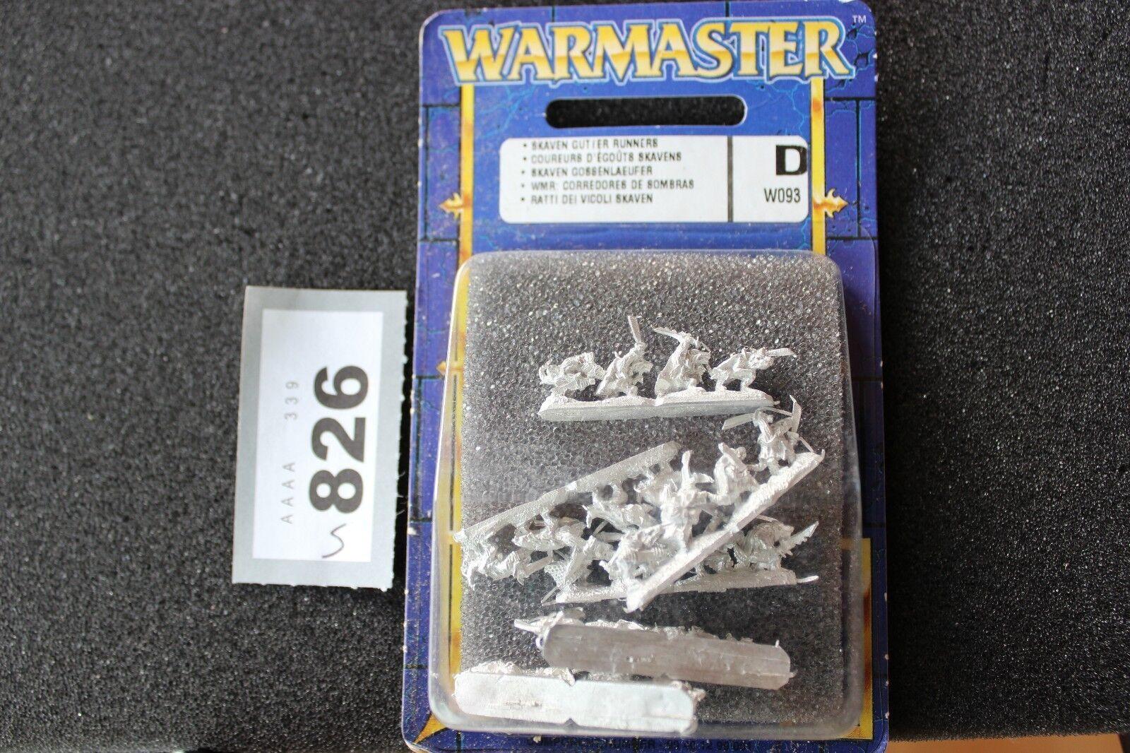 Games Workshop Warmaster Skaven grondaia corridori NUOVO CON SCATOLA NUOVO SIGILLATO IN METALLO 10mm GW