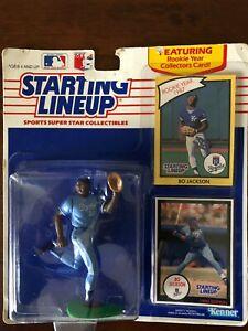 1990 Kenner Starting Lineup Bo Jackson Baseball Toy KC Kansas City Royals SLU