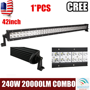CREE 42Inch 240W Led Work Light Bar Spot Flood OffRoad Ford Truck Driving 6000K