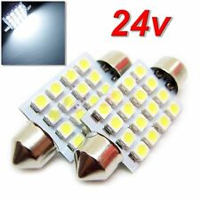 UK 24v x2 C5W 38/39mm Truck Lorry HGV Interior Number Plate Festoon LED BULB
