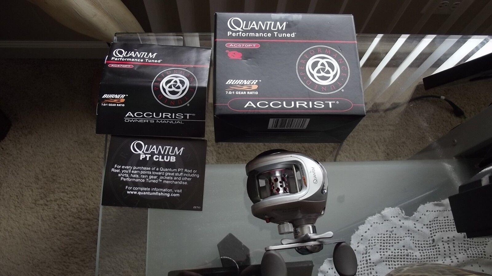 New Quantum AC570PT Accurist Burner Bait Casting Reel