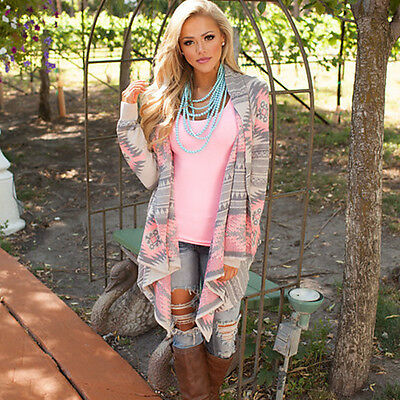 Womens loose waterfall cardigan sweater jacket Knitted Pullover Long Jumper Coat