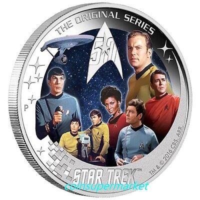 2016 Silver Star Trek USS ENTERPRISE NCC-1701 High Relief Coin