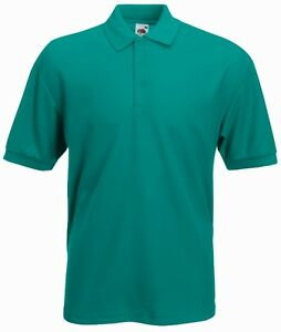fruit of the loom plain jade emerald polo shirt ebay. Black Bedroom Furniture Sets. Home Design Ideas