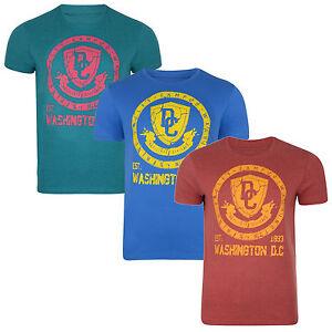 Conspiracy-New-Mens-Logo-Print-Cotton-T-shirt-Top-Washington-D-C-Blue-Red-Green