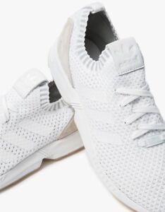 a67a24c99e1b1 RARE Adidas ZX Flux PK Primeknit White White S75977 NEW Womens 8.5 ...