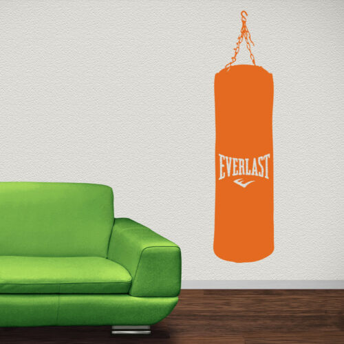Boxing Bag Wall Sticker Boxer Sports Wall Decal Bedroom Gym Home Decor