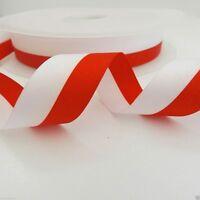 2 metres Patriotic polish flag ribbon red/white 15mm 25mm or 40mm widths poland