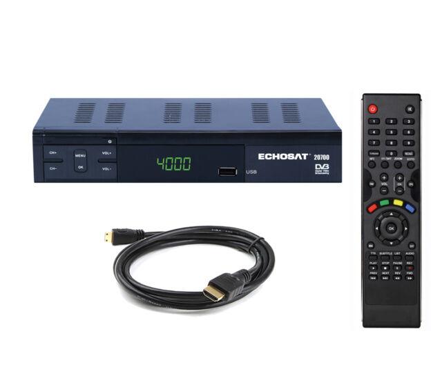 Digitaler Sat Receiver HD UND SCART Satelliten-Receiver USB HDMI Free-TV DVB-S2