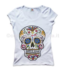 Is Teschio Fr Messicano U3 Happiness Lifestyle T Shirt Donna rsdxBthQC