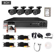 HUNGKA 8CH HDMI 960H DVR/NVR Outdoor 800TVL Home Security CCTV Camera System 1TB