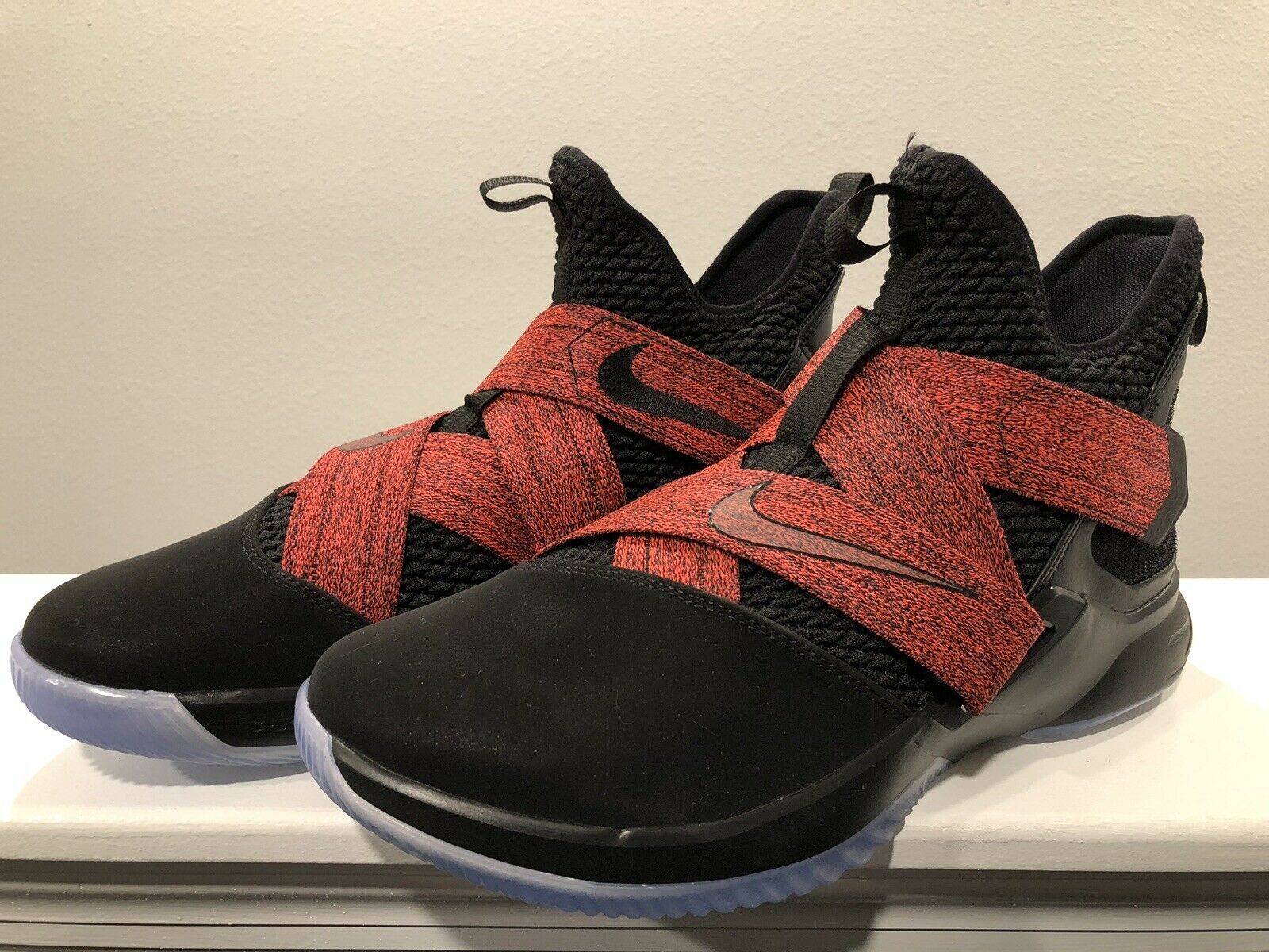 Nike Lebron Soldier XII 12 Dimensioni 11.5 AO2609 -003 Straps  rosse Men's Basketball  best-seller