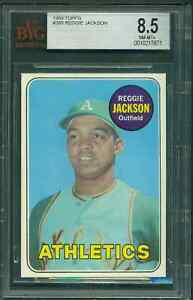 Details About 1969 Topps 260 Reggie Jackson Rookie Card Bvg Bgs 85 Near Mint Mint