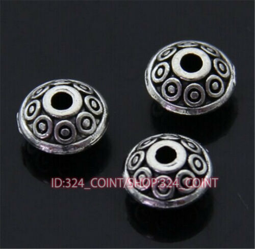 P400 100pc Tibetan Silver Charm Flower String Spacer Beads accessories wholesale