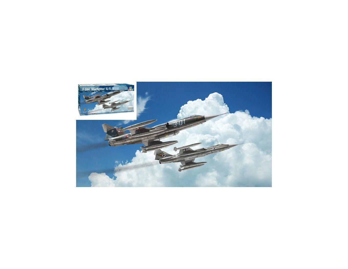 Italeri IT2514 F-104G RECCE UPGRADED UPGRADED UPGRADED EDITION KIT 1:32 Modellino 83f507