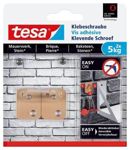 5kg tesa® Klebeschraube Mauerwerk und Stein 77904//77905//77906