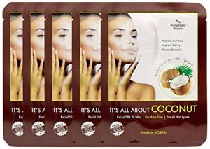 5x Symphony Beauty It S All About Coconut Korean Face Mask Paraben Free 8809175176129 Ebay
