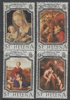 ST.HELENA SG549/52 1989 CHRISTMAS MNH