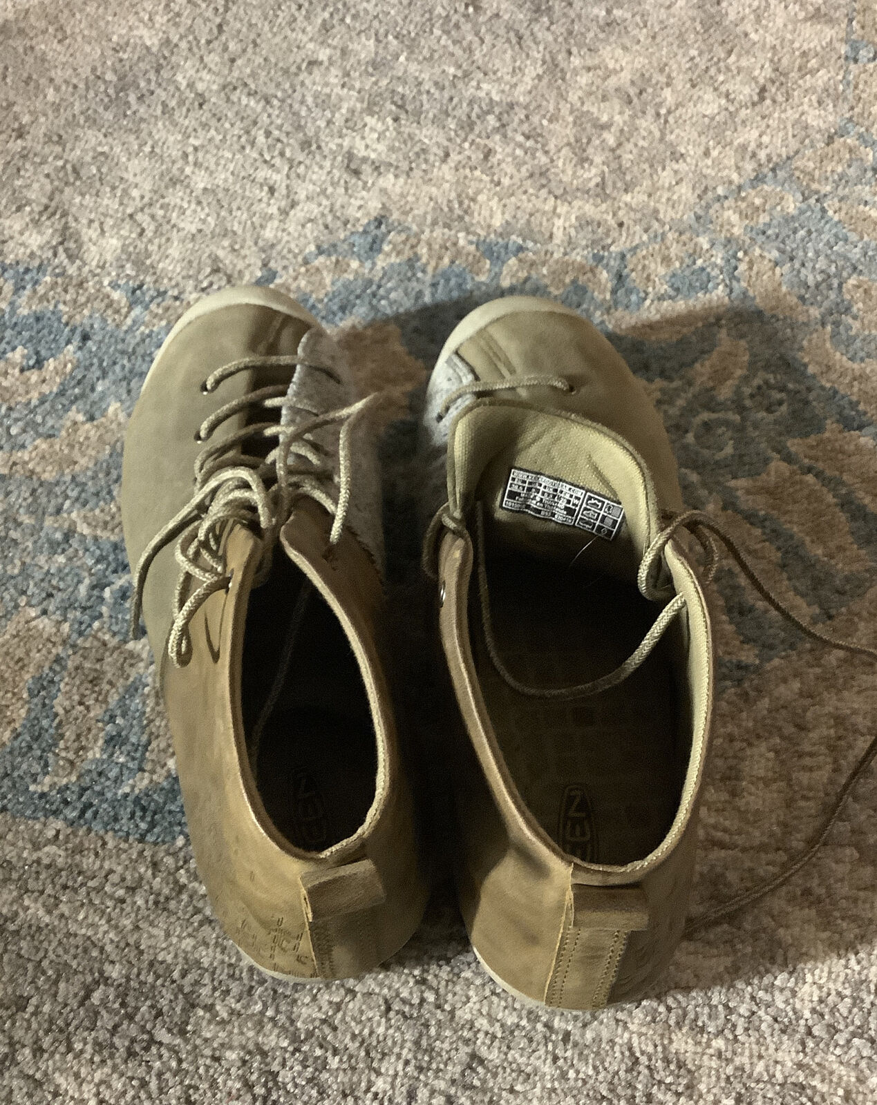 KEEN East Side Bootie Women's Size 5 Pale Olive Gargoyle Lace Up Boots ----(B22)