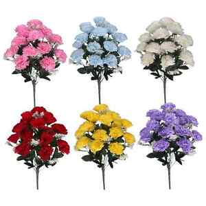 Artificial carnations 18 flower heads white lilac pink red image is loading artificial carnations 18 flower heads white lilac pink mightylinksfo
